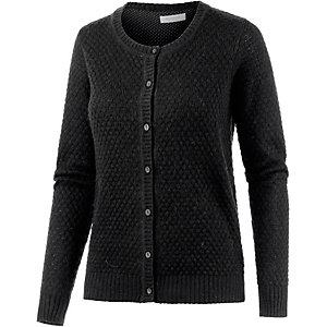 nümph Strickjacke Damen schwarz