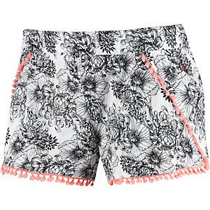 Maui Wowie Shorts Damen offwhite/blau