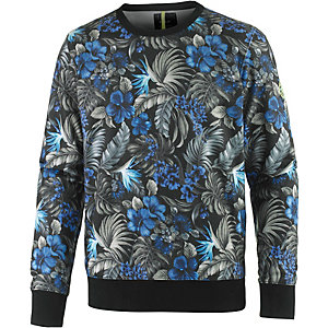 REPLAY Sweatshirt Herren schwarz/blau