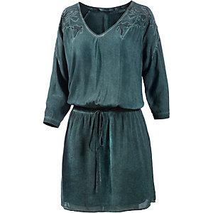 GARCIA Kurzarmkleid Damen dunkelgrün