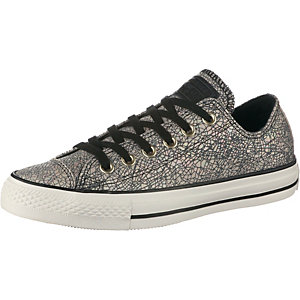 CONVERSE Chuck Taylor All Star Oil Slick Leather Sneaker Damen offwhite/grau