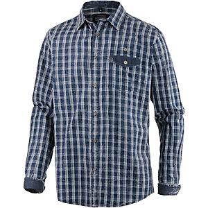TIMEZONE Langarmhemd Herren blau/weiß