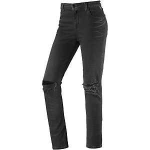 REPLAY Cherilyn Skinny Fit Jeans Damen black destroyed denim