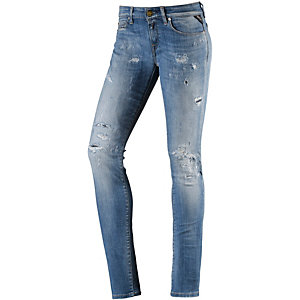 REPLAY Rose Skinny Fit Jeans Damen destroyed blue denim
