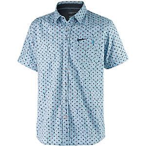 Twinlife Kurzarmhemd Herren hellblau allover