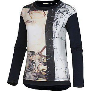 Rich & Royal Langarmshirt Damen schwarz/bunt