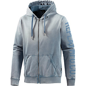REPLAY Sweatjacke Herren washed blue