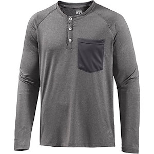 Colour Wear Swift Henley Funktionsshirt Herren graumelange
