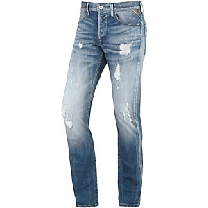 REPLAY Waitom Straight Fit Jeans Herren destroyed denim