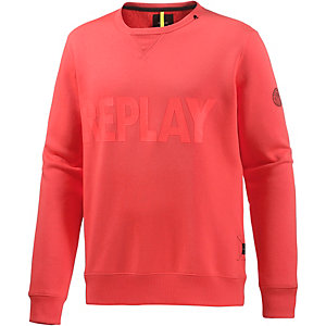 REPLAY Sweatshirt Herren orange/rot