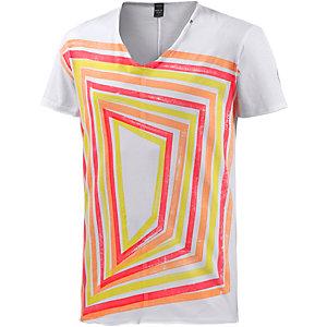 REPLAY Printshirt Herren weiß/bunt