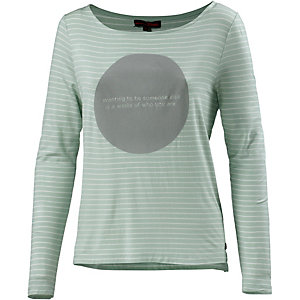 TOM TAILOR Langarmshirt Damen mint/weiß