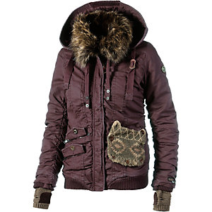 khujo felice with gloves winterjacke damen bordeaux im online shop von. Black Bedroom Furniture Sets. Home Design Ideas