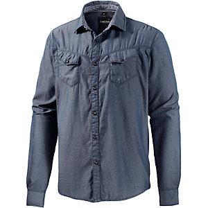 TIMEZONE Langarmhemd Herren blau