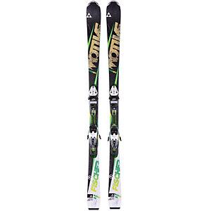Fischer Set Motive76 14/15 + RS11 All-Mountain Ski schwarz/grün/weiß