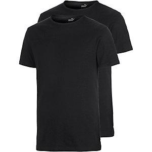 PUMA Shirt Doppelpack Herren schwarz