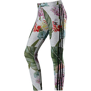 adidas Leggings Damen grau/bunt