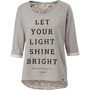 TIMEZONE Sweatshirt Damen grau/rosa