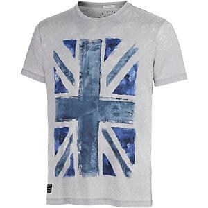 Pepe Jeans Printshirt Herren hellgrau