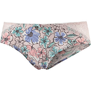 Short Stories Panty Damen rosa/blau