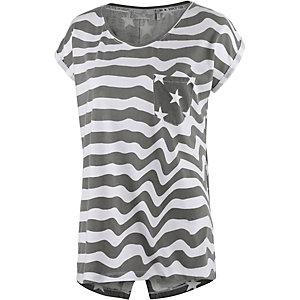 M.O.D Printshirt Damen grau/weiß