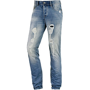 M.O.D Leo Slim Fit Jeans Herren destroyed denim