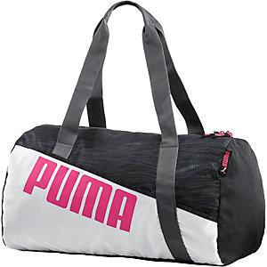 PUMA Sporttasche Damen schwarz/anthrazit/rot