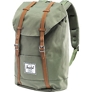 Herschel Daypack Deep Litchen Green/Tan Leather