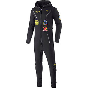 Onepiece Aviator Jumpsuit schwarz