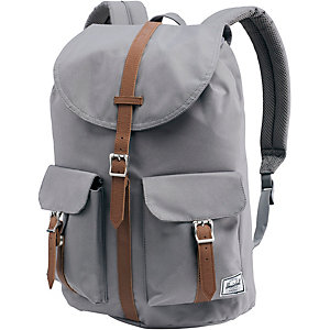 Herschel Daypack Grey/Tan Synthetic Leather