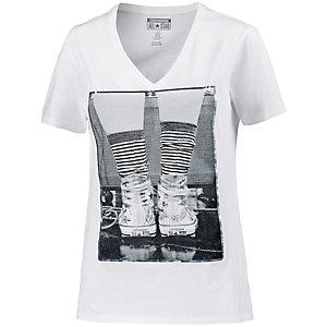 CONVERSE Printshirt Damen weiß