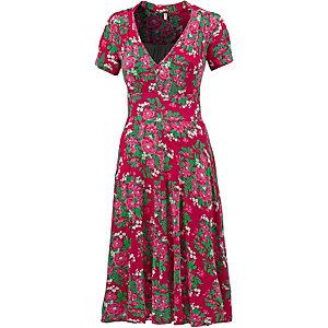 Blutsgeschwister Jerseykleid Damen rot/grün