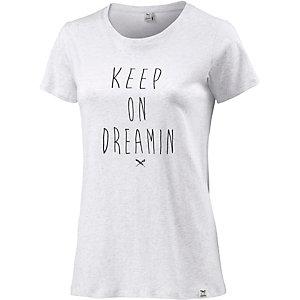 iriedaily T-Shirt Damen weiß/grau  melange