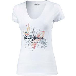 Pepe Jeans Printshirt Damen weiß/bunt