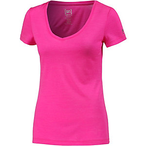 super natural V-Shirt Damen pink