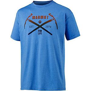 Marmot Ascend Printshirt Herren blau
