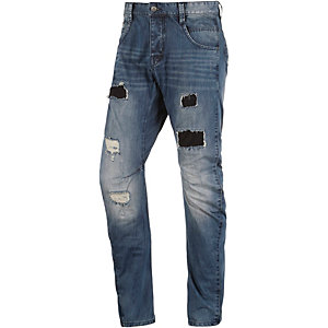 HUMÖR Zuniga Straight Fit Jeans Herren destroyed used denim