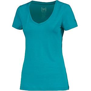 super natural V-Shirt Damen türkis