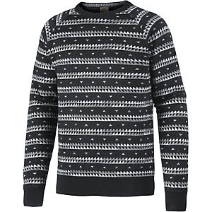 Bench Strickpullover Herren schwarz/allover