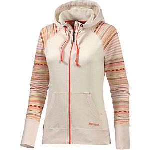 Marmot Callie Sweatjacke Damen weiß/orange