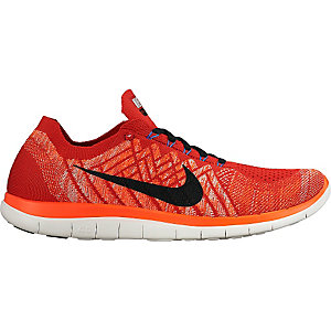 Nike Free 4.0 Flyknit Laufschuhe Herren rot/schwarz