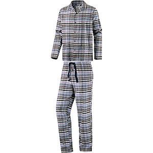 Jockey Pyjama Herren grau/blau