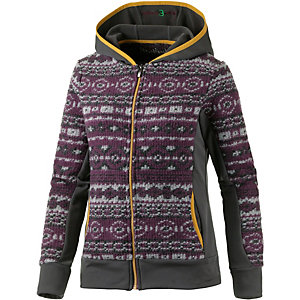 PrimEmotion Strickfleece Damen aubergine