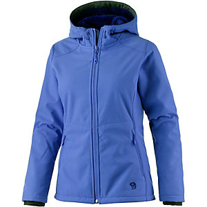 Mountain Hardwear Pyxiana Hooded Softshelljacke Damen blau
