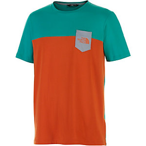 The North Face Radome Pocket T-Shirt Herren türkis/orange