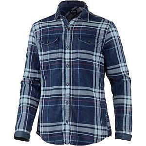 S.OLIVER Langarmhemd Herren blau
