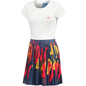 adidas Kurzarmkleid Damen weiß/bunt