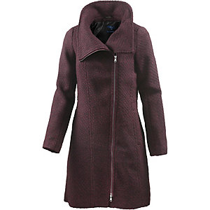 TOM TAILOR Wollmantel Damen bordeaux