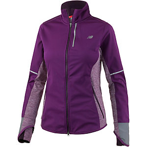NEW BALANCE Windblocker Trainingsjacke Damen brombeer