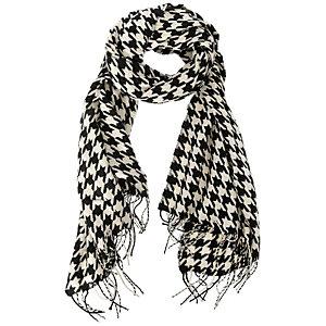 Pieces Schal Damen schwarz/weiß